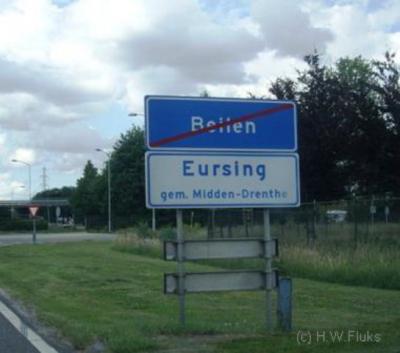 De oude Beilense buurtschap Eursing is rond 1970 afgebroken t.b.v. de noordelijke uitbreidingen van het dorp Beilen. Nadien heeft men de weg tussen het dorp en het Oranjekanaal Eursing genoemd en is die bebouwing de buurtschap Eursing geworden.