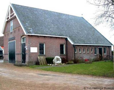 Firdgum, het Yeb Hettinga Museum is gevestigd in de voormalige dorpsschool
