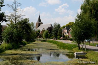Goudriaan, aan het gelijknamige riviertje in de Alblasserwaard