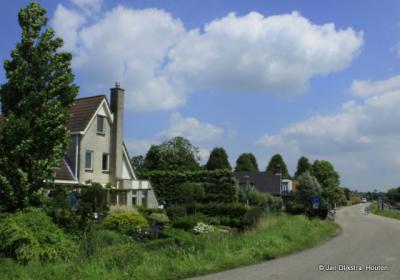 Buurtschap Graafland, direct onder het dorp Groot-Ammers