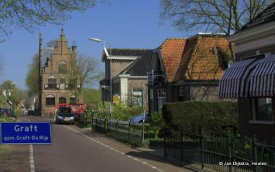 Graft, dorpsgezicht, met het raadhuis