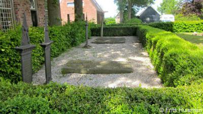 Groot Wetsinge, graven in de pastorietuin