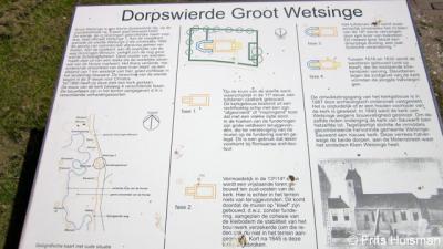 Groot Wetsinge, informatiepaneel