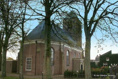 Hagestein, dorpsgezicht met Hervormde kerk, vanuit het zuiden gezien