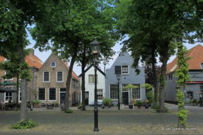 Huisjes op de Vischmarkt in Harderwijk.