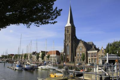 De RK kerk, aan de haven in Harlingen