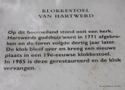 Tekst en uitleg bij het klokhuis of de klokkenstoel in Hartwerd