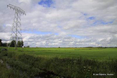 Het uitgestrekte landschap bij Haskerdijken.