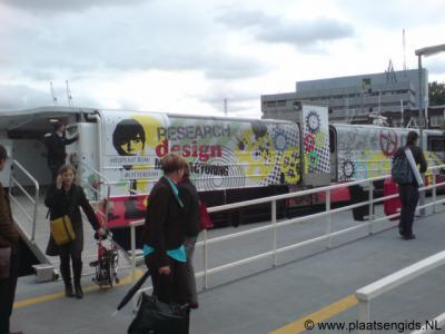 Heijplaat, sinds 2009 kun je met een snelle catamaran van Rotterdam-Centrum naar Heijplaat v.v.