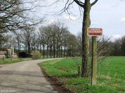 Helhuizen (buurtschap van deels Haarle, deels Espelo / Holten. De gemeente Hellendoorn plaatst bij haar buurtschappen aan de gemeentegrens deze fraaie plaatsnaamborden.