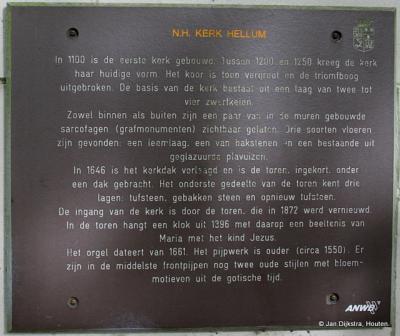 Tekst en uitleg bij de kerk van Hellum.