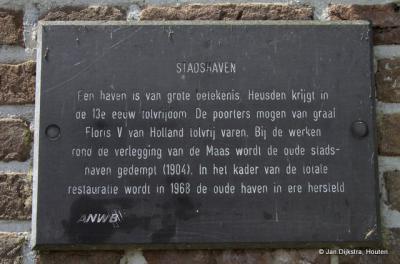 Tekst en uitleg bij de haven van Heusden