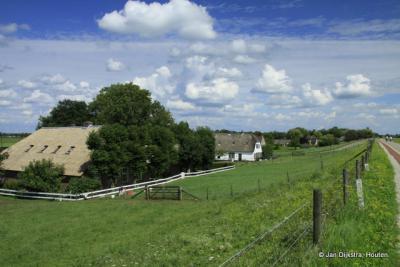 Buurtschap Honswijk bij Schalkwijk in de gemeente Houten.