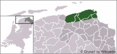 Deze kaart geeft de ligging van de streek Hoogeland in het N van de provincie Groningen aan. Althans volgens Wikipedia. In de praktijk is er geen ondubbelzinnige afbakening van de huidige streek. Zie verder het hoofdstuk Ligging.