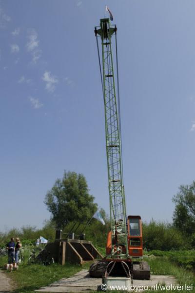 Horstermeer, de inwoners hebben in mei 2010 uit protest tegen de 'nieuwe natuur' een stuw verwijderd