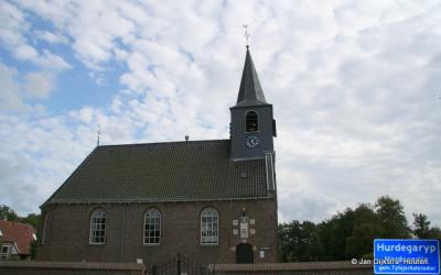 De Hervormde Hofkerk in Hurdegaryp.
