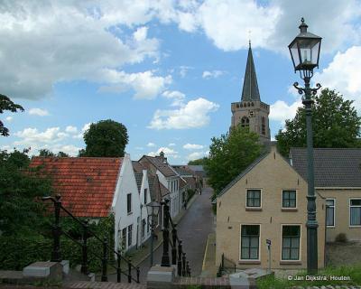 Dorpsgezicht van Jaarsveld vanaf de Lekdijk.