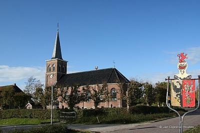 De kerk en het wapen van Jellum.