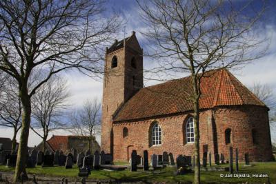 Een echt Fries kerkje in Jistrum, zo met dat zadeldak