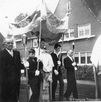 Kerensheide, gem. Beek LB, processie, ca. 1962