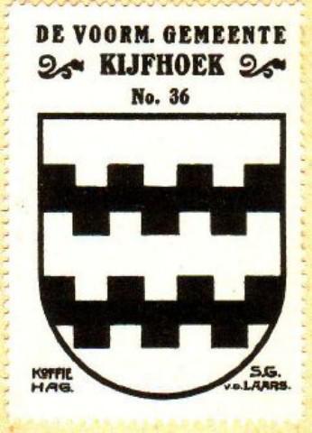 Kijfhoek, wapen van de gemeente Kijfhoek, die van 1817 tot 1857 heeft bestaan