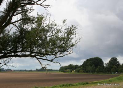Het landschap in buurtschap Oudedijk bij Drieborg in september na de oogst