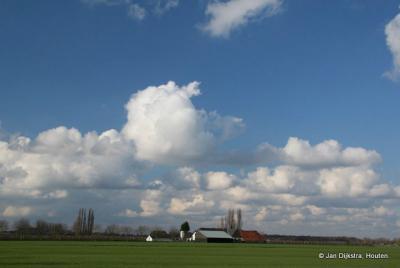 Het landschap van de Kromme Rijn bij Werkhoven.