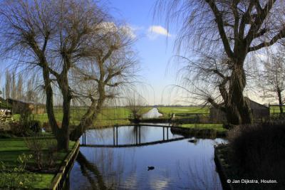 Vanaf Lageweg kijken we Polder De Nesse in