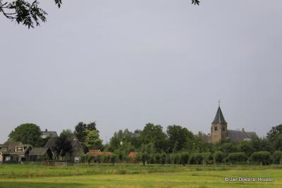 Langerak gezien vanuit de polder.