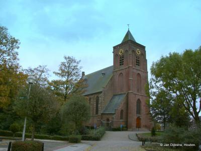 De kerk van Leerbroek, op een donk