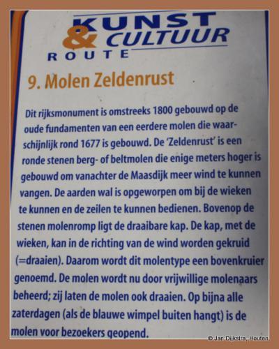 Tekst en uitleg bij de molen Zeldenrust in Lith.