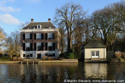 Buurtschap Oud Over, gezien vanaf het dorp Loenen, Buitenplaats Vegtlust