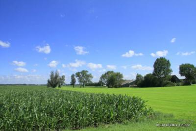 Het landschap bij de buurtschap Mastwijk.