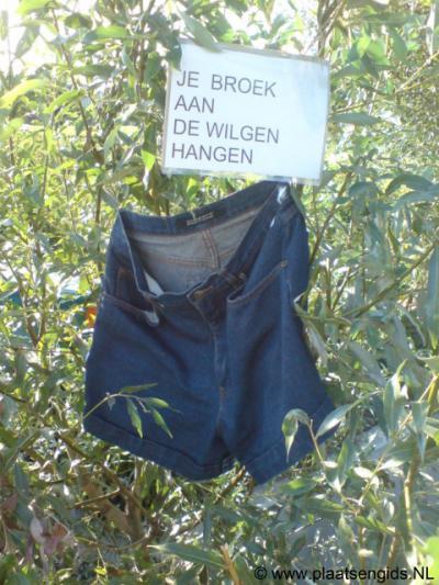 Tijdens de Meerkerkse Feestweek 2009 hingen in de buurtschap Broek spreekwoorden en gezegden aan de huizen die iets met 'broek' hadden te maken.