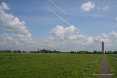 Groene Hart, het dorpje Meije bij Bodegraven is een lintdorp met een groot en weids buitengebied