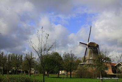 Molen De Valk in Montfoort, ook gezien vanuit het Stadspark