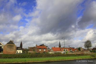 De skyline van Montfoort, gezien vanuit het Stadspark