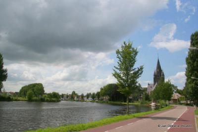 Nes aan de Amstel, vanuit het noorden bekeken