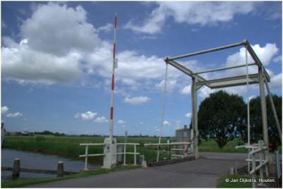 Ophaalbrug over de Oude Waver nabij Nessersluis.