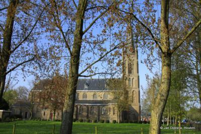 De neogotische Gunerakerk in Nibbixwoud