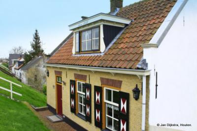 Huisjes aan de Dijk in Nieuw-Lekkerland.