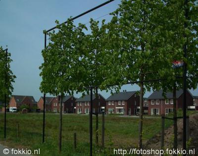 Roden, het laatste stuk van de nieuwe wijk Vijfde Verloting wordt gebouwd tot aan Nieuw-Roden