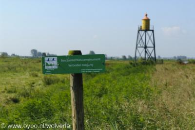Vuurtoren/lichtbaken bij de buurtschap Nieuwendijk in de Hoeksche Waard