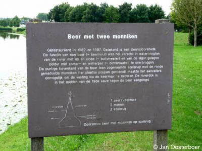 Nieuwpoort, hier kunt u lezen wat de functie was van de beer met monniken.