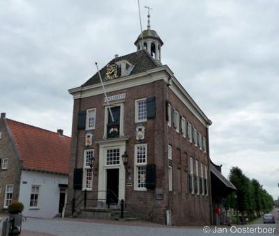 Nieuwpoort, het prachtige stadhuis uit 1697 is tegenwoordig een museum