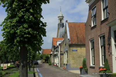 In de mooie vestingstad Nieuwpoort aan rivier de Lek in de Alblasserwaard.