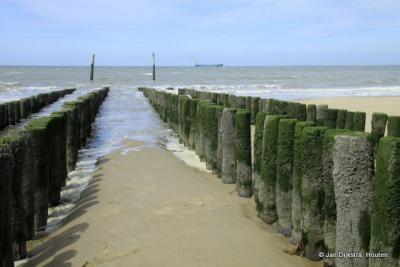Strand bij Nieuwvliet-Bad aan de Westerschelde.