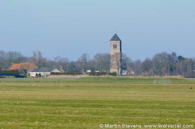 Nijemirdum, met het oudste nog bestaande bouwwerk van het Gaasterland: de 14e-eeuwse kerktoren Nijemardumer Toer. De bijbehorende kerk is in de 18e eeuw afgebroken.
