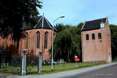 De Hervormde kerk van Noordbroek, met vrijstaande toren