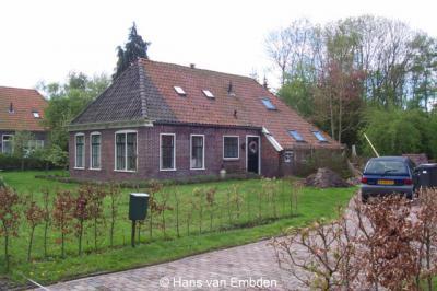 Een van de markante woonhuizen in het dorp Noordwolde-Zuid